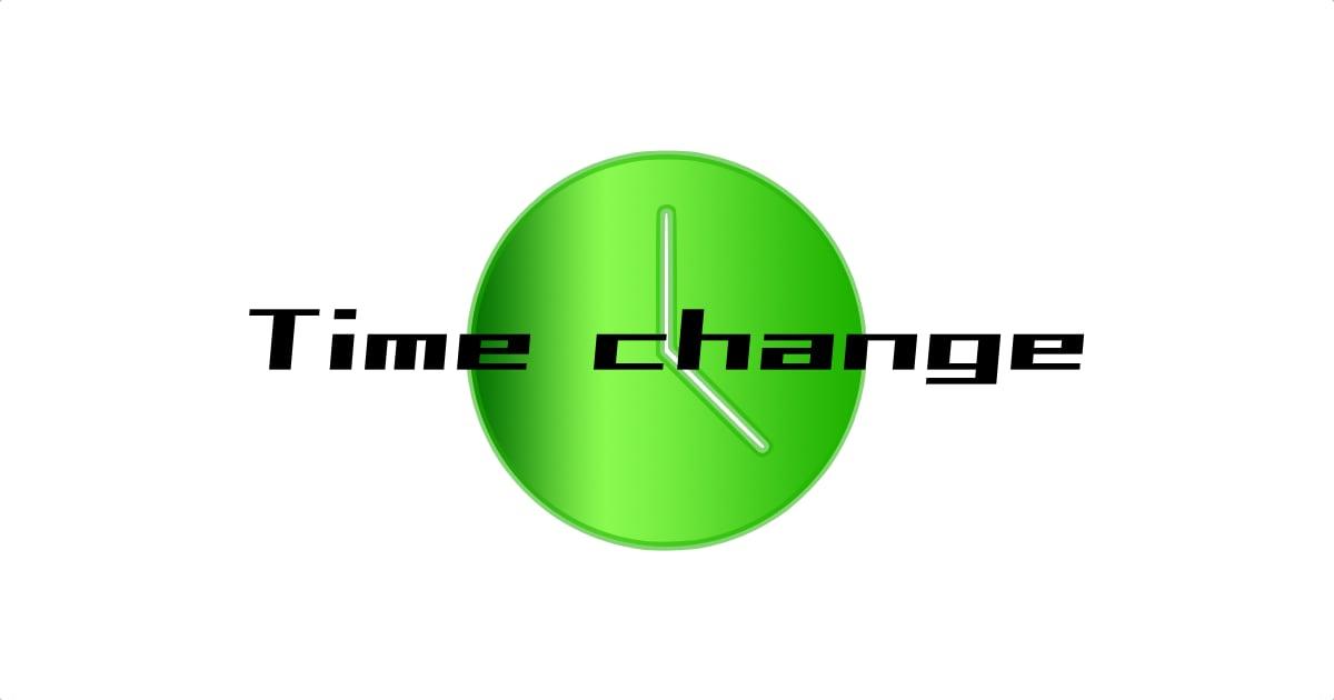 2クラスの時間変更のお知らせ